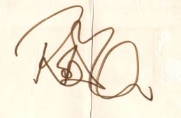 Robert Plant Autograph - [13 Apr 1981] Derby Blue Note