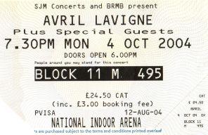 Avril Lavigne [4 Oct 2004] Birmingham NIA