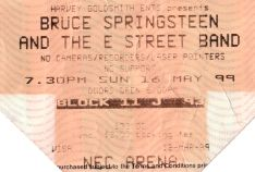 Stub - Bruce Springsteen and the E Street Band [16 May 1999] Birmingham NEC