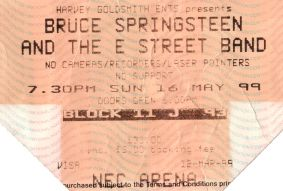 Bruce Springsteen and the E Street Band [16 May 1999] Birmingham NEC