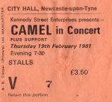 Camel [19 Feb 1981] Newcastle City Hall