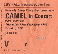 Camel [19 Feb 1981] Newcastle City Hall