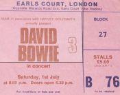 David Bowie [1 July 1978] London Earls Court