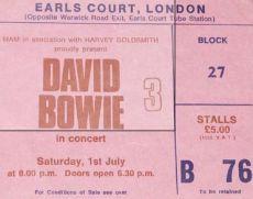 Stub - David Bowie [1 July 1978] London Earls Court