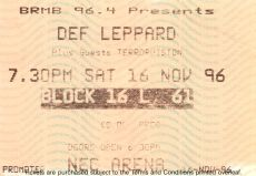 Def Leppard [16 Nov 1996] Birmingham NEC