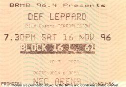 Stub - Def Leppard [16 Nov 1996] Birmingham NEC