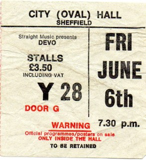 Devo [6 Jun 1980] Sheffield City Hall