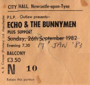 Echo & the Bunnymen [17 Jan 1983] Newcastle City Hall
