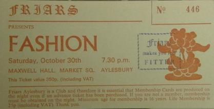 Fashion [30 October 1982] Aylesbury Friars