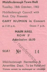 Gary Newman [18 Oct 1983] Middlesbrough Town Hall