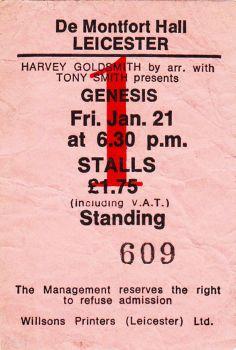 Genesis [21 Jan 1977] Leicester DeMontford Hall