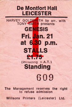 Genesis [21 Jan 1977] Leicester DeMontford Hall