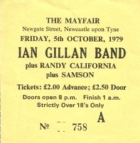 Gillan [5 Oct 1979] Newcastle Mayfair