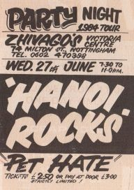 Hanoi Rocks [27 Jun 1984] Nottingham Zhivago's