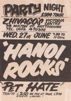 Hanoi Rocks [27 Jun 1984] Nottingham Zhivago's