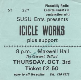Icicle Works [3 Oct 1985] Salford University