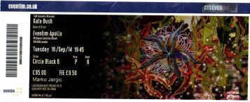 Stub - Kate Bush [16 Sep 2014] - Eventim Apollo London