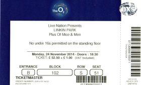 Stub - Linkin Park [24 Nov 2014] - The O2 London