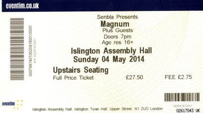 Magnum [4 May 2014] London Islington Assembly Hall