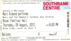 Marc Almond [9 Aug 2012] London Royal Festival Hall