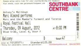 Marc Almond [9 Aug 2012] London Royal Festival Hall