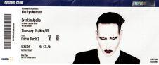 Stub - Marilyn Manson [19 Nov 2015] London Eventim Apollo