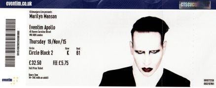 Marilyn Manson [19 Nov 2015] London Eventim Apollo