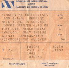 Neil Young [24 Sep 1982] Birmingham NEC