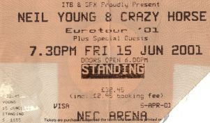 Neil Young & Crazy Horse [15 Jun 2001] Birmingham NEC