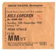 Nils Lofgren [13 Dec 1981] Birmingham Odeon