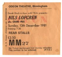 Nils Lofgren [13 Dec 1981] Birmingham Odeon