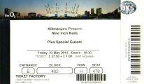 Stub - Nine Inch Nails [23 May 2014] - O2 London