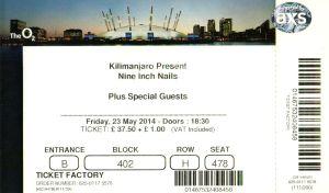Nine Inch Nails [23 May 2014] - O2 London