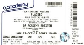 Stub - Placebo [23 Oct 2017] Brixton Academy
