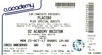 Placebo [23 Oct 2017] Brixton Academy