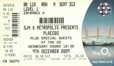 Stub - Placebo [9 Dec 2009] London O2