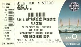Placebo [9 Dec 2009] London O2