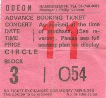 Queen [26 Dec 1979] London Hammersmith Odeon example