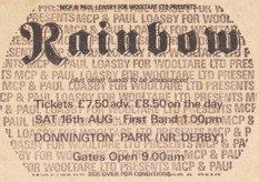 Stub - Rainbow [16 Aug 1980] Monsters of Rock Donnington Park