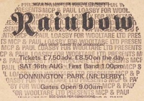 Rainbow [16 Aug 1980] Monsters of Rock Donnington Park