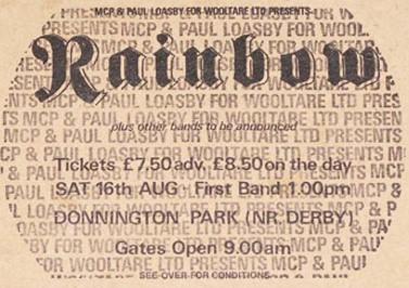 Rainbow [16 Aug 1980] Monsters of Rock Donnington Park