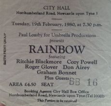 Rainbow - [19 Feb 1980] Newcastle City Hall
