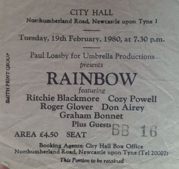 Rainbow - [19 Feb 1980] Newcastle City Hall