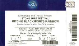 Rainbow - O2 London [17 June 2017] Stone Free Festival