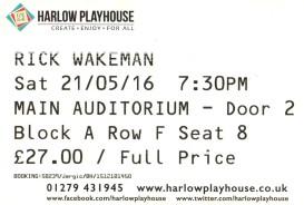 Rick Wakeman [21 May 2016] Harlow Playhouse