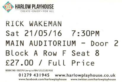 Rick Wakeman [21 May 2016] Harlow Playhouse