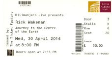 Stub - Rick Wakeman [30 Apr 2014] Royal Albert Hall