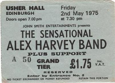 Stub - SAHB Edinburgh 2 May 1975