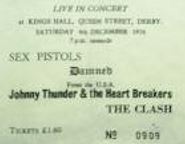 Sex Pistols [4 Dec 1976] Derby Kings Hall