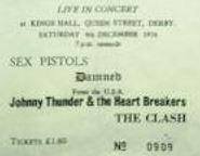 Stub - Sex Pistols [4 Dec 1976] Derby Kings Hall